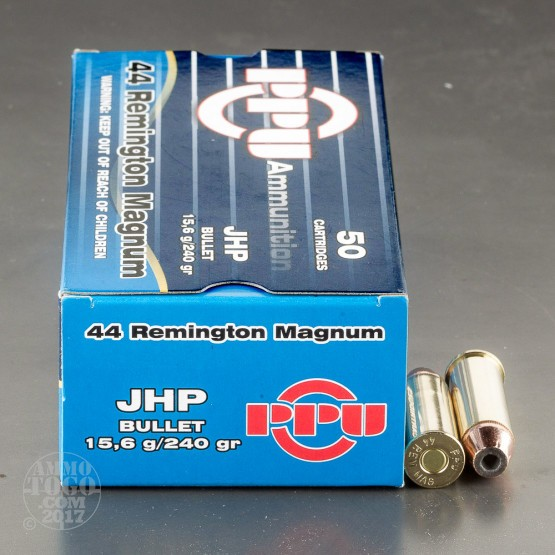 500rds - 44 Mag Prvi Partizan 240gr JHP Ammo