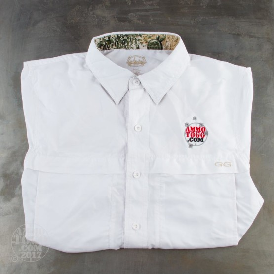1 - GameGuard White MicroFiber Shirt (Small) With Ammo To Go Logo