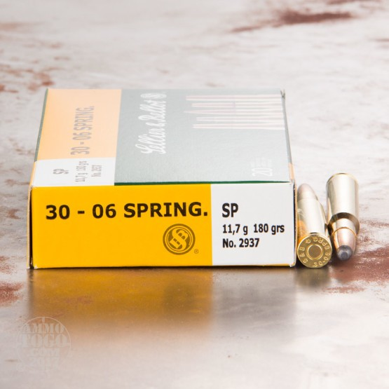 20rds - 30-06 Sellier & Bellot 180gr. Soft Point Ammo