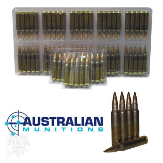 100rds - 5.56 NATO ADI 62gr. SS109 F1 Ball Ammo in Film Packs