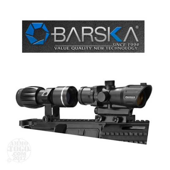 1 - Barska 1x30mm M-16 Electro Sight with 3x30 Magnifier Combo