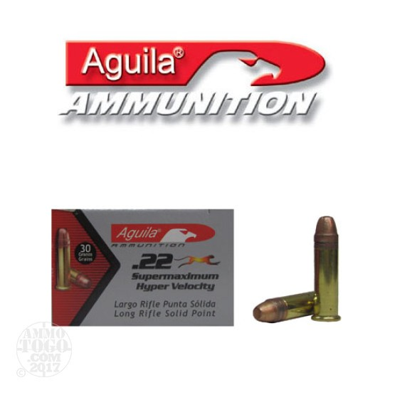 5000rds - 22LR Aguila Super Max 30gr. Hyper Velocity Solid Point