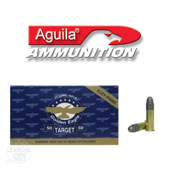 50rds - 22LR Aguila Golden Eagle Target 40gr. Solid Point Ammo