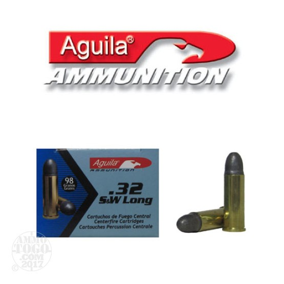 1000rds - 32 S&W Long Aguila 98gr. Lead Round Nose Ammo