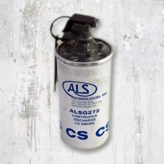 1 - U.S. Mil-Spec Continuous Discharge CS Tear Gas Grenade