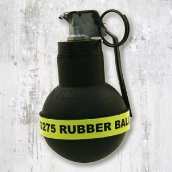 1 - Tactical Rubber Ball Continuous Discharge WHITE Smoke Grenad