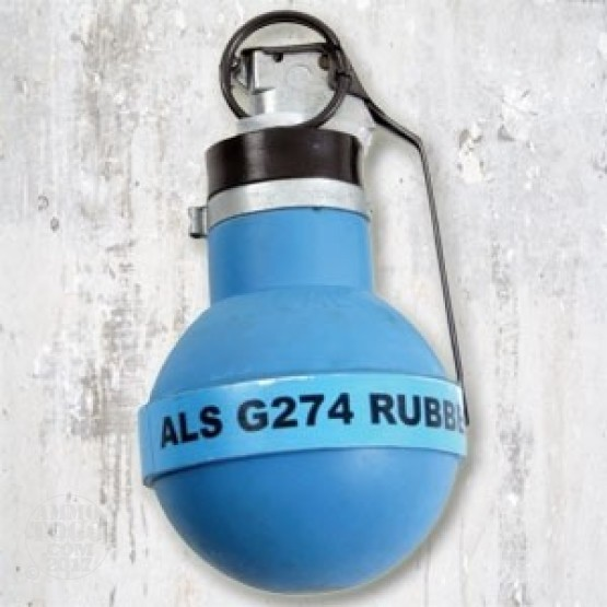 1 - U.S. Mil-Spec Tactical Rubber Ball CS Tear Gas Grenade