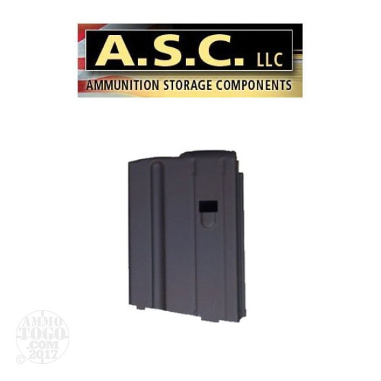 1 - ASC AR-15 6.8 SPC 10rd. Black Stainless Steel Magazine