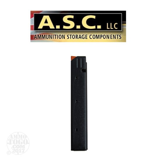 1 - ASC 9mm Stainless Steel 32rd. Magazine Black w/Orange Follower