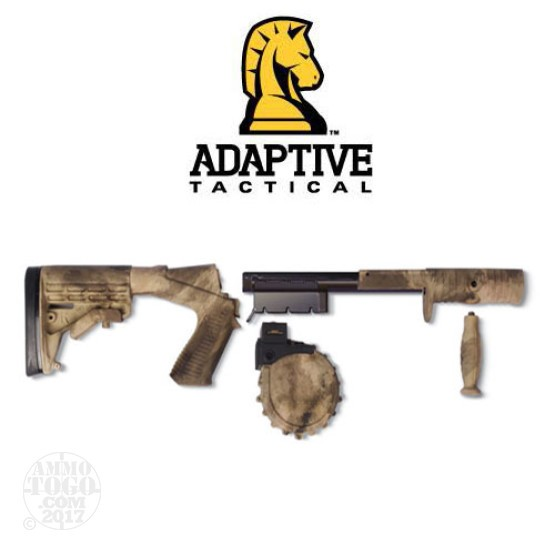 1 - Adaptive Tactical Venom Shotgun 10rd. Rotary Magazine Conversion Kit W/ M4 Stock ATACS Camo For Mossberg 500 & 88