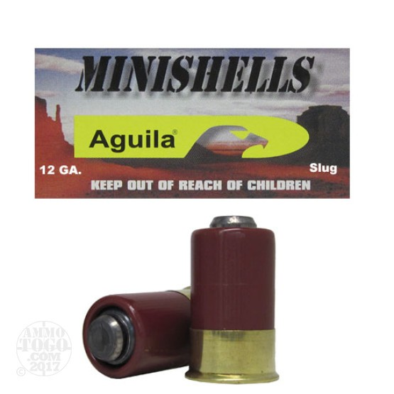 100rds - 12 Gauge Aguila Mini-Shell Slug Ammo