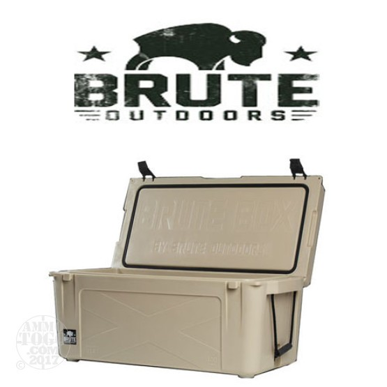 1 - Brute Box 100 Quart Cooler Tan