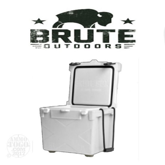 1 - Brute Box 25 Quart Cooler White