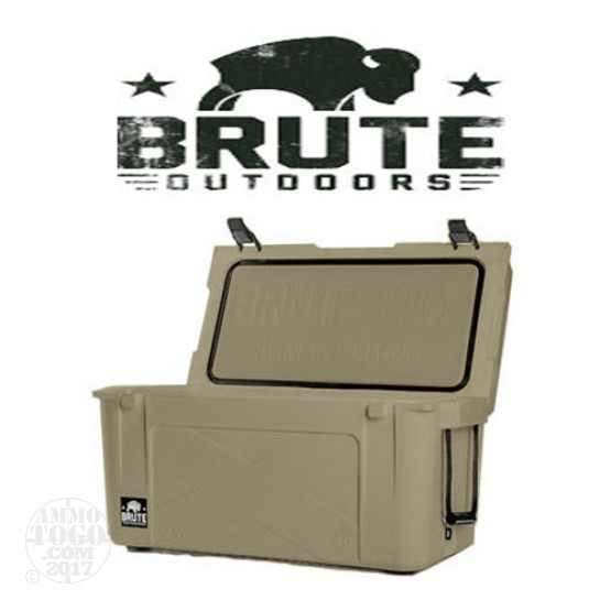 1 - Brute Box 50 Quart Cooler Tan