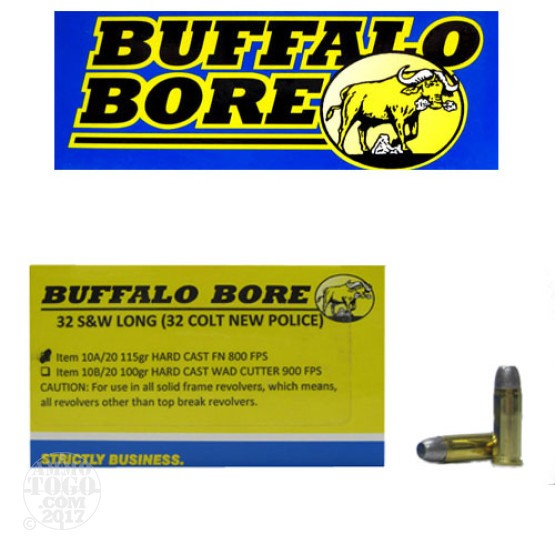 20rds - 32 S&W Long Buffalo Bore 115gr. HCFN Ammo