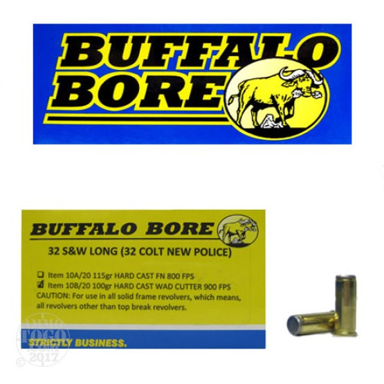 20rds - 32 S&W Long Buffalo Bore 100gr. HCWC Ammo