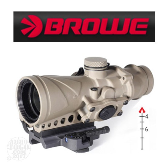 1 - Browe Combat Optic BCO 4x32mm Red 5.56mm NATO Chevron Reticle FDE