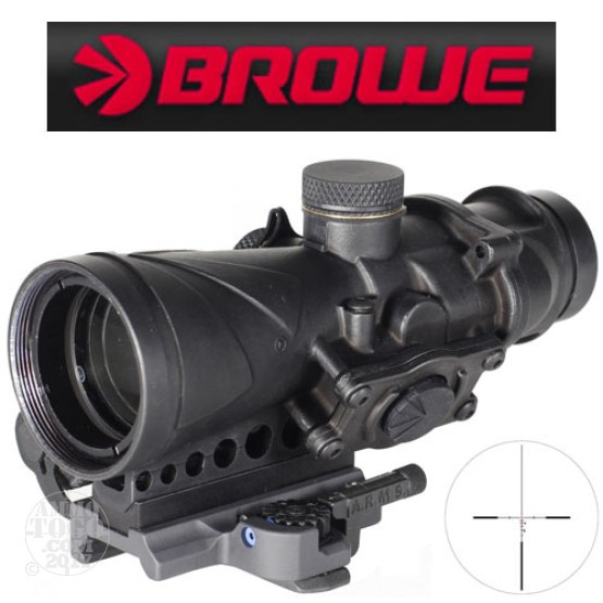 1 -  Browe Combat Optic BCO 4x32mm 5.56mm NATO Red Crosshair Reticle Black Color