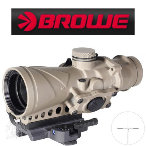 1 -  Browe Combat Optic BCO 4x32mm 5.56mm NATO Red Crosshair Reticle Flat Dark Earth