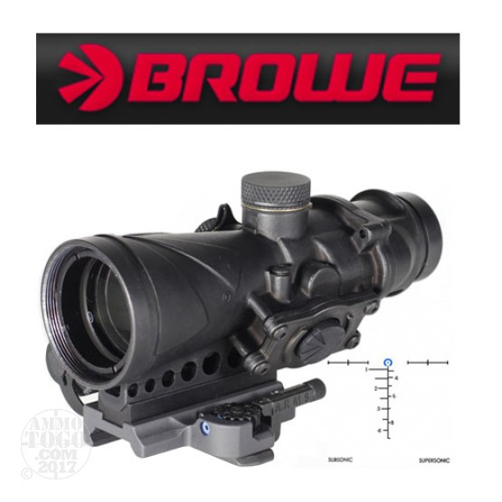 1 - Browe Combat Optic BCO 4x32mm Blue Horseshoe AAC 300 Blackout