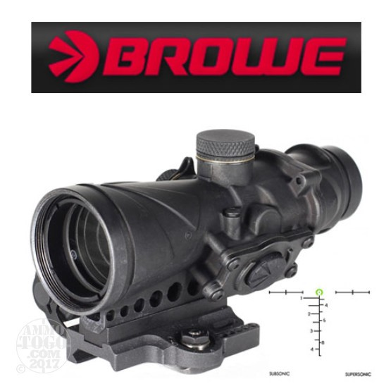 1 - Browe Combat Optic BCO 4x32mm Green Horseshoe AAC 300 Blackout