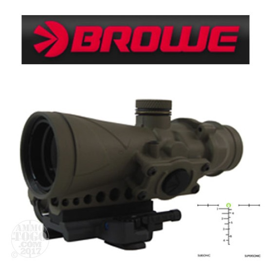 1 - Browe Combat Optic BCO 4x32mm Green Horseshoe AAC 300 Blackout FDE