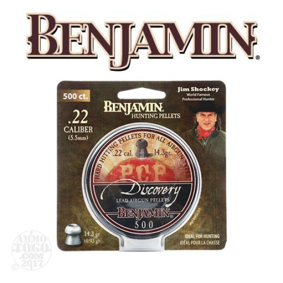500rds - .22 Cal Benjamin Discovery 14.3gr. Hollow Point Air Rifle Pellets