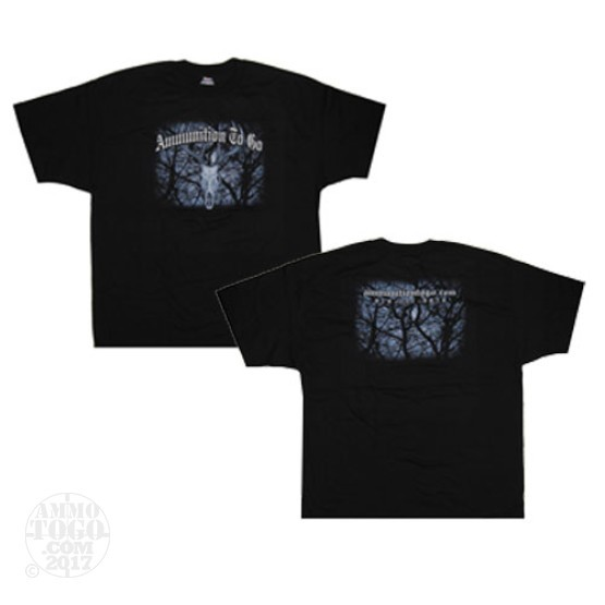 1 - Black Ammo To Go Deer Skull T-Shirt (Medium)