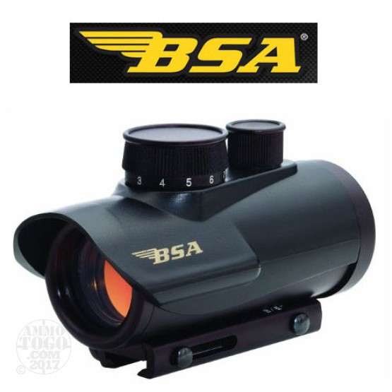 1 - BSA Optics 30mm Red Dot Illuminated Optic Sight Black