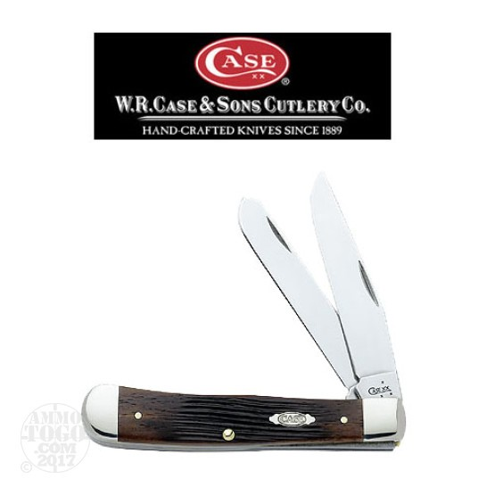"1 - Case Trapper 2 Blade 4 1/8"" Brown Folding Pocket Knife"