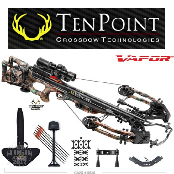 1 - TenPoint Vapor Package with Rangemaster, Frame-Mounted ACUdraw Rope Cocker with Free Shipping