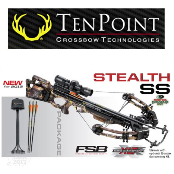 1 - TenPoint Stealth SS Package with Proview 2 Scope, Frame-Mounted ACUdraw 50 Rope Cocker With Free Shipping