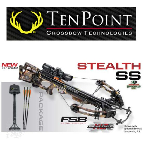 1 - TenPoint Stealth SS Package w/ Proview 2 Scope, Frame-Mounted ACUdraw Crank Assist With Free Shipping