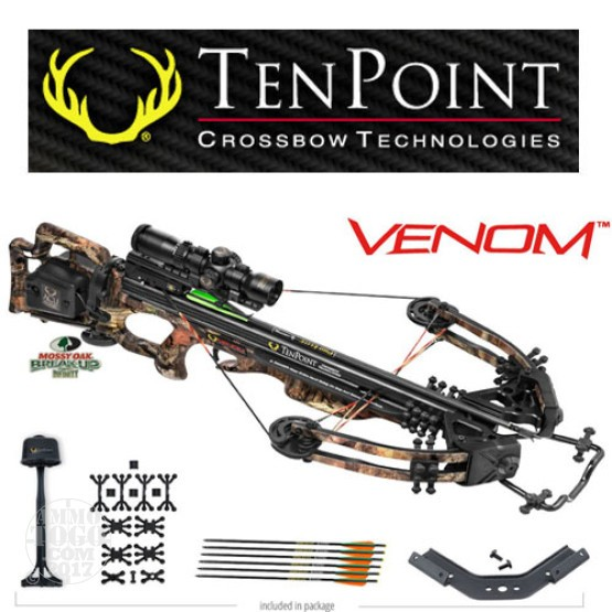 1 - TenPoint Venom Package with Rangemaster, Frame-Mounted ACUdraw 50 Rope Cocker with Free Shipping