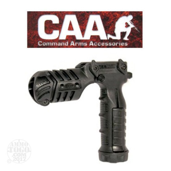 1 -  CAA FGA Vertical Forearm Grip/Flashlight Adaptor Black