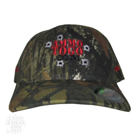 1 - Camo Mossy Oak Ammo To Go Logo Flexfit Fitted Cap (Large/XL)