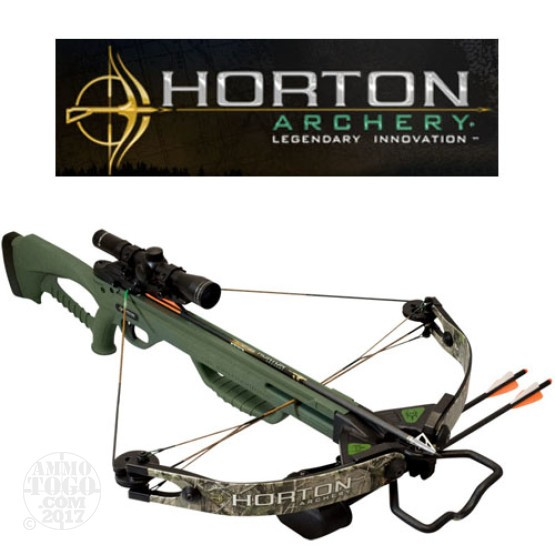 1 - Horton Archery Brotherhood Crossbow Green w/4x32 Scope Package with Free Shipping
