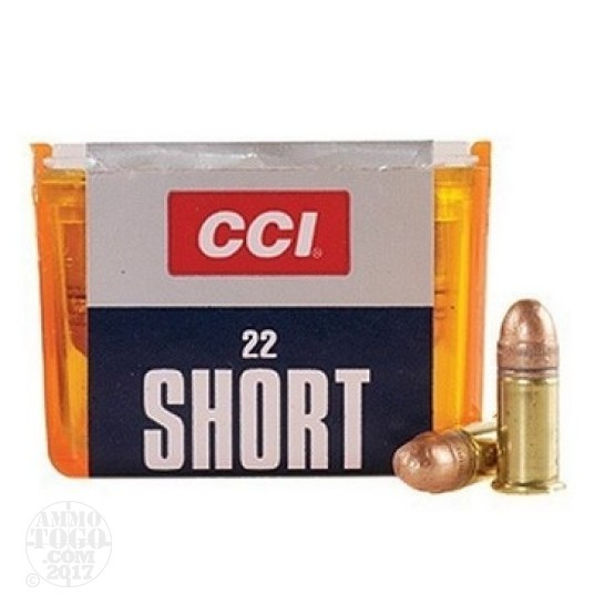 100rds - .22 Short CCI 29gr. Plated Lead Round Nose Ammo