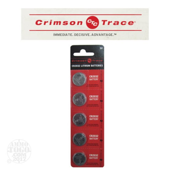 1 - Crimson Trace CR2032 Lithium Battery 5-Pack