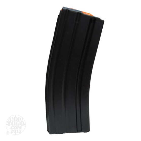 1 - C Products AR-15 .223 Stainless Steel 30rd. Magazine w/ Orange Follower