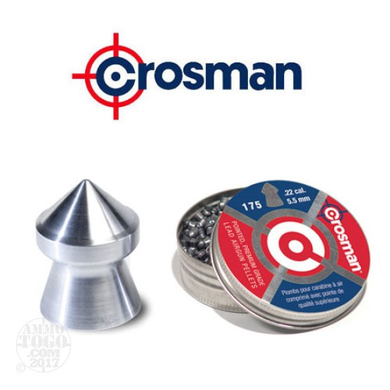 175rds - Crosman Pointed Pellets Premium Grade .22 Cal. 5.5mm