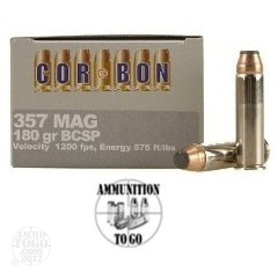 20rds - 357 Mag Corbon 180gr. Bonded Soft Point Ammo