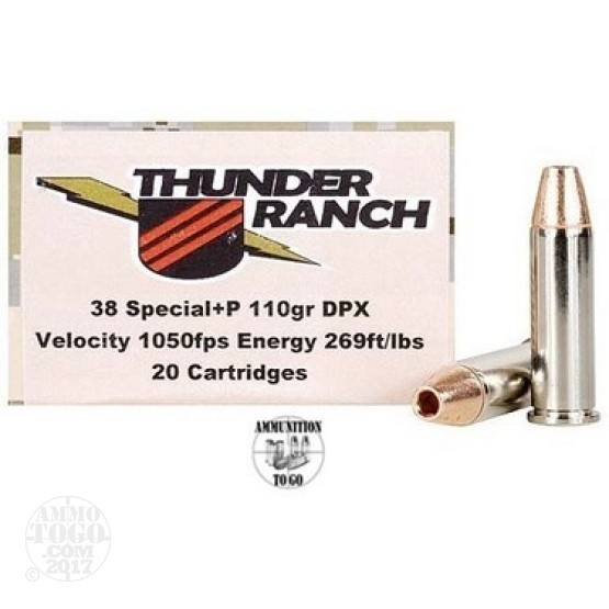 20rds - 38 Special Corbon 110gr +P Thunder Ranch DPX HP