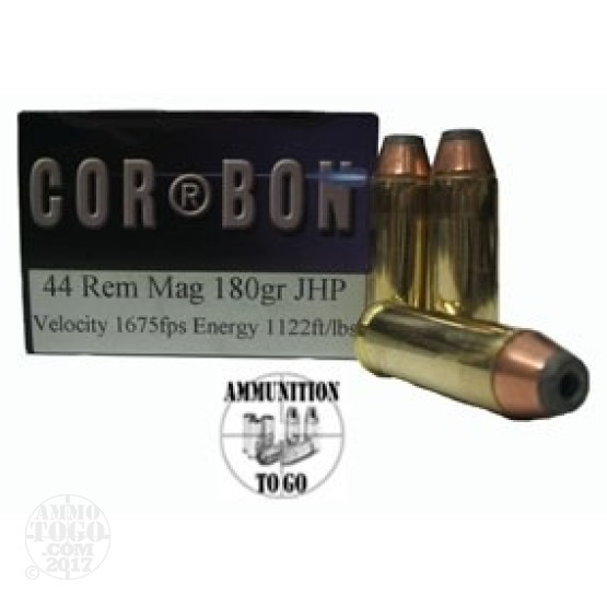 20rds - 44 Mag Corbon Hunter 180gr. HP Ammo