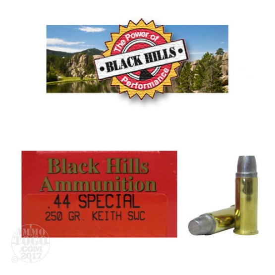 50rds - 44 Special Black Hills Thunder Ranch 250gr. Elmer Keith Semi-Wadcutter Ammo