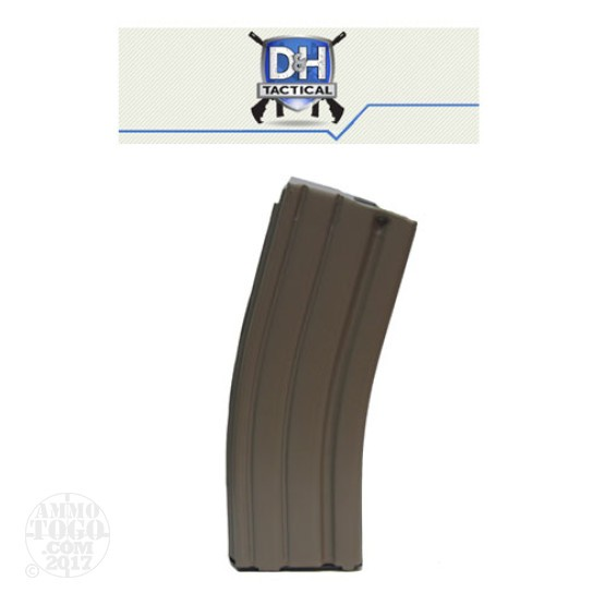 1 - D & H Industries AR-15 Aluminum 30rd. Pinned to 10rd. Mag Tan