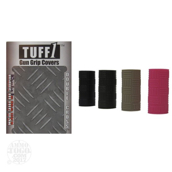 1 - Tuff1 Gun Grip Cover Double Cross Grip OD Green