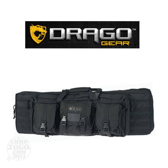 "1 - Drago Gear 36"" Double Rifle Case Black"