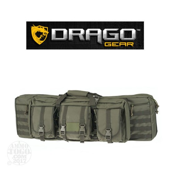 "1 - Drago Gear 36"" Double Rifle Case Green"