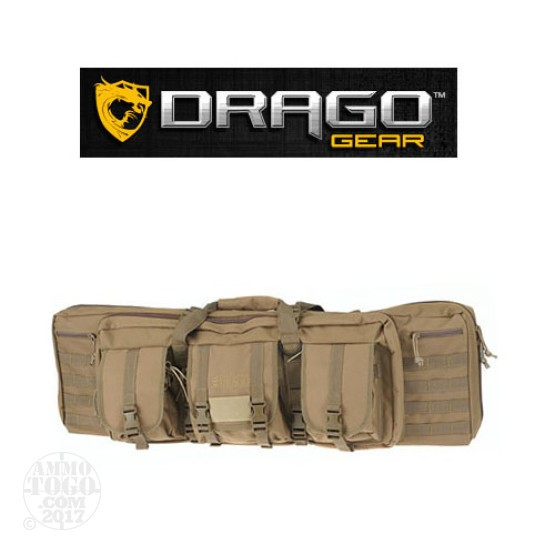 "1 - Drago Gear 36"" Double Rifle Case Tan"